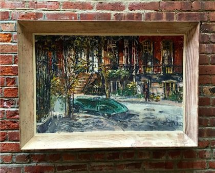 George Bossek Gramercy Park Painting: click to enlarge